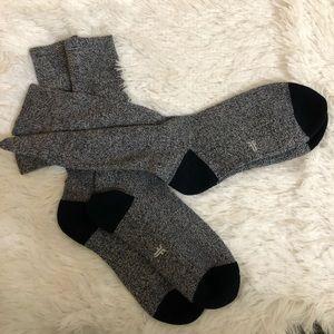 (2) pairs of Frye men cushion socks size L